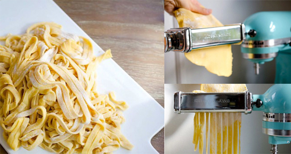 Pasta Maker and Pasta by KitchenAid