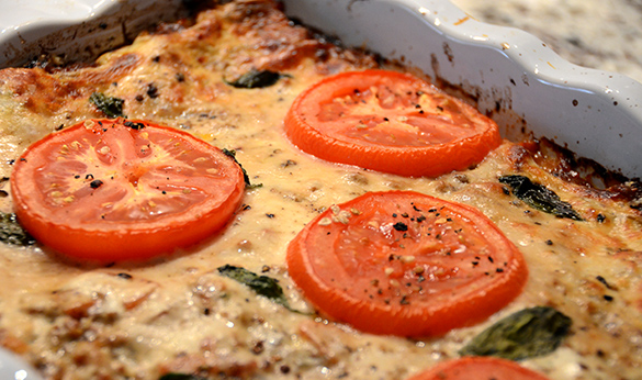 Baked Lasagna with Tomatoes