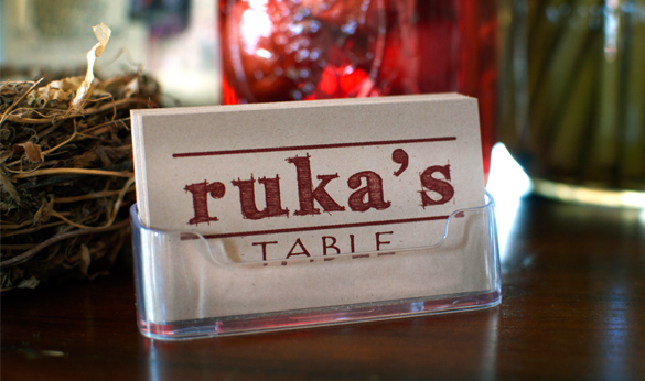 Business Card from Ruka's Table