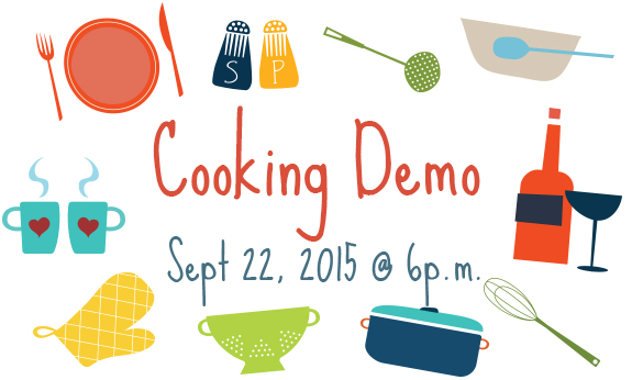 Cooking demo - Sept 22