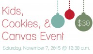 Kids, Cookies, & Canvas Event at Chef Supplies