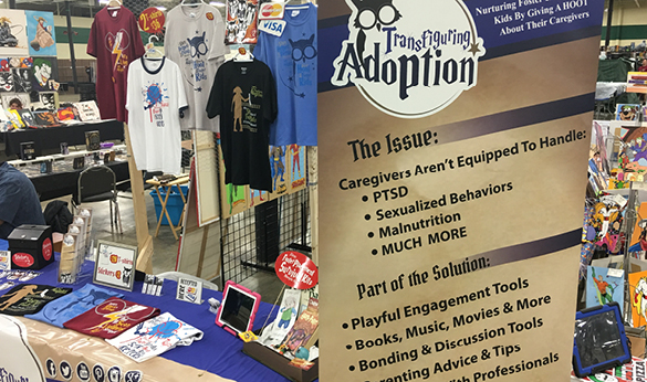 Transfiguring Adoption's table setup at a convention