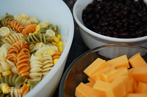 Fiesta Pasta Salad Ingredients